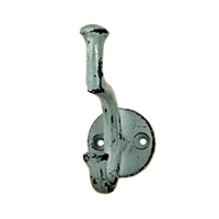 Iron Wall Hook in Distressed Sage Green