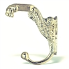 Ornate Tiger Wall Hook in Silver Finish