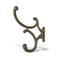 Iron Coat & Robe Wall Hook In Gray Finish