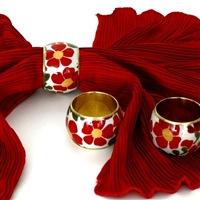 Floral Napkin Ring (Set of 4)