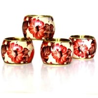 Brass floral napkin ring