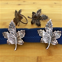 Maple leaf napkin ring