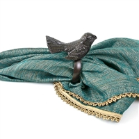 Bird Napkin Ring in Dark Antique Copper Finish (Set of 4)