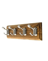 Wooden Hook Rack (Four Double Hooks)