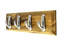 Wooden Hook Rack (Four Hooks)