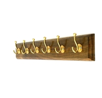 Wooden Hook Rack (Six Pegs)
