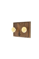 Wooden Hook Rack (Ivory Colored Knobs)