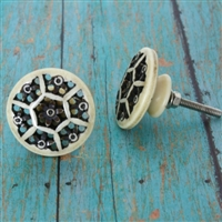 Ivory finish resin knob