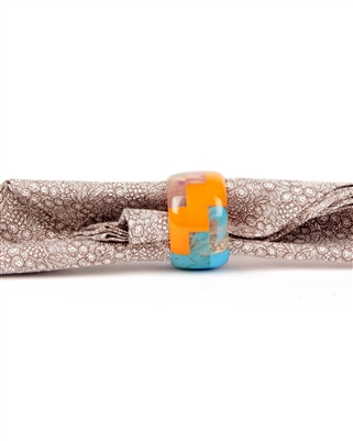 Multicolored resin napkin ring