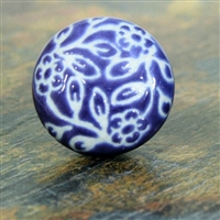 Etched Ceramic Knob - Purple