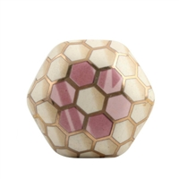 Hexagon Ceramic Drawer Knob in Honeycomb Pattern