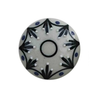 Black Floral Ceramic Drawer Knob
