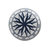 This blue compass ceramic knob has been especially designed for a kids room.  Ideal for dressers, cabinet etc.