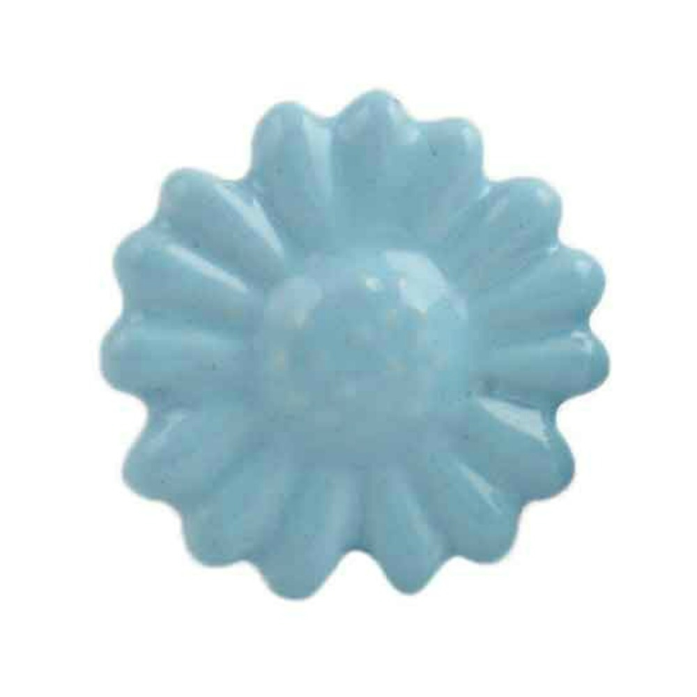 Charming Ceramic Knob In A Soothing Blue Color This Flower Shaped