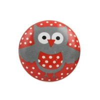Ceramic drawer knob with a cute owl print. Ideal way to add color and charm to a kids room.