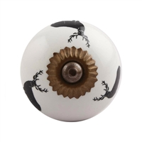 Black Reindeer Ceramic Drawer Knob