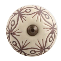 Etched Ceramic Drawer Knob