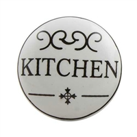 Flat Ceramic Kitchen Cabinet & Drawer Knob