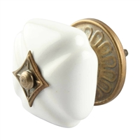 Solid White Ceramic Cabinet Knob