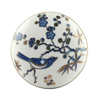 Blue Bird Golden Berry Ceramic Floral Drawer Knob
