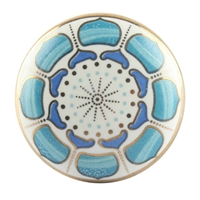Turquoise Flower Ceramic Drawer Knob