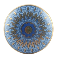 Blue Peacock Ceramic Wardrobe Knob