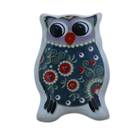 Flat Owl Ceramic Drawer Knob