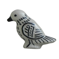 Black White  Bird Ceramic Cabinet Knob