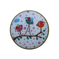 Colorful Birds Ceramic Cabinet Knob