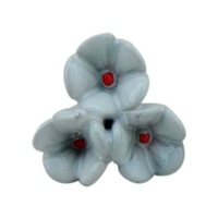 White Flower Ceramic Cabinet Knob