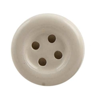 Cream Ceramic Button Cabinet Knob