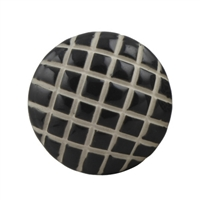 Black Etched Crisscross Ceramic Knob