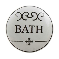 Flat Ceramic Bath Cabinet & Drawer Knob
