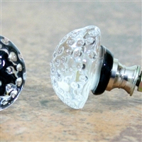 Black Berry Glass Knob