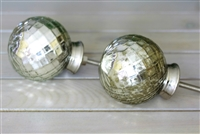 Dome Mercury Glass Knob