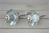 Melon Glass Knob - Clear