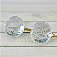 Cut Glass Knob - Clear Dome