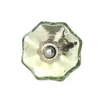Mercury Melon Silver Glass Knob