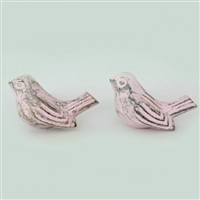 Metal Sparrow Cabinet Knob in Pink Distressed Finish