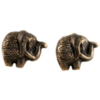 Elephant Cabinet Knob in Antique Brass Finish