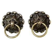 Flower Drawer Knob with Ring