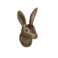 Rabbit Head Iron Cabinet Knob in Antique Brass Finish