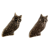 Owl Metal Cabinet Knob in Antique Brass