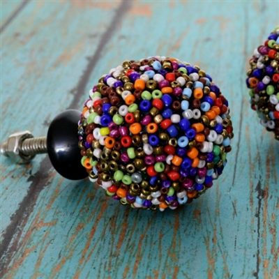 Colorful Beaded Cabinet Knob