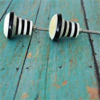 Gear Cabinet Knob with Black & White Stripes