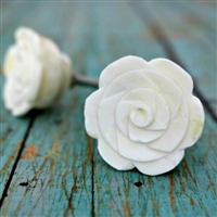 Rose Knob Carved in Bone