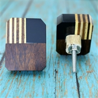 Three Color Wood Cabinet Knob