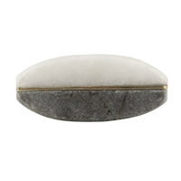 Grey and White Stone Knob