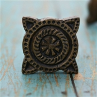 Set of 2 Metal Cabinet Knob in Antique Brass Finish