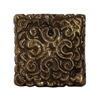 Square Metal Cabinet Knob inan Antique Brass Finish